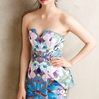 Vivace Pencil Dress by Finders Keepers Blue Motif