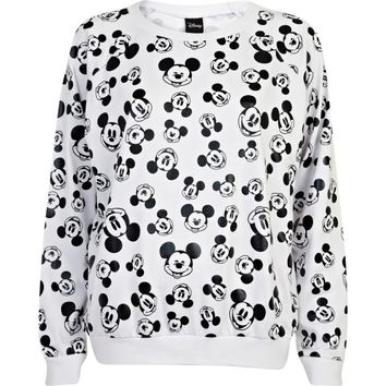 Black and white Mickey Mouse print sweatshirt - sweaters / hoodies - t shirts / vests / sweats - women