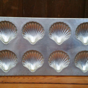 Vintage Tin Madeleine Baking Tray Mold Pan Made in France