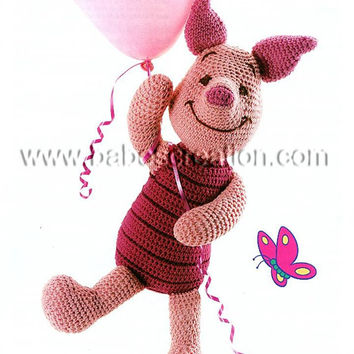 40% SALE Piglet Amigurumi Pattern : INSTANT DOWNLOAD