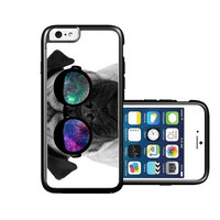 RCGrafix Brand Pug Geek Space Hipster Galaxy iPhone 6 Case - Fits NEW Apple iPhone 6