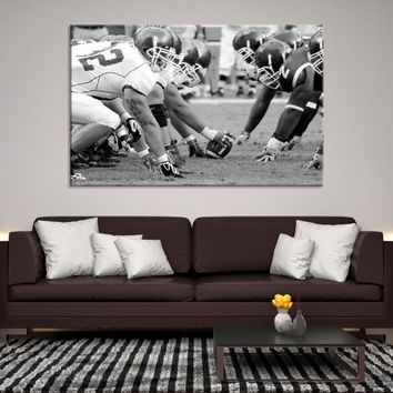 94861 - Black and White Iconic Photo of Super Bowl Final on Canvas, American Football Wall Art, Large Canvas Print, Extra Large Wall Art, NFL Super Bowl, Home Decor