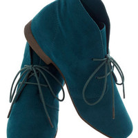 Dashing to Bootie in Deep Teal | Mod Retro Vintage Boots | ModCloth.com