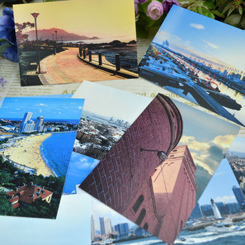 Travel Postcard Chinese Style Postcard Greeting Card Small Card 9 pcs [9283917258]