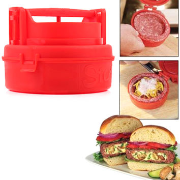 Plastic Kitchen Cooking Tools Mini Hamburger Meat Press Burger Maker Barbecue Innovative Kitchenware Patties Make Tools