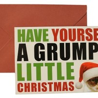 Grumpy Cat Have Yourself a Grumpy Little Christmas Cards (Pack Of 8 w/ envelopes)