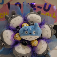 My Neighbor Totoro doll flower bouquet with Ferrero Rocher Chocolates