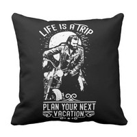 Life Quotes - Life Is A Trip... Throw Pillow