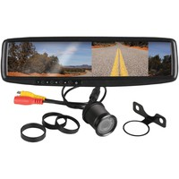 """Boss Audio 4.3"""" Rearview Mirror With Monitor & Backup Camera"""