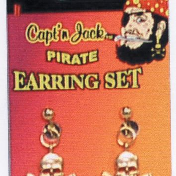 Pirate Earring Set for Halloween 2017