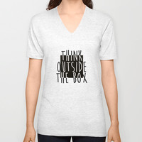 Quote Unisex V-Neck by Motivational