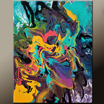 Abstract Art Print - Contemporary Modern Wall Art by Destiny Womack  - The Dreamer - dWo