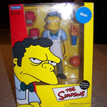 HUGE SALE 35% OFF The Simpsons Faces Of Springfield Deluxe Figure Moe Szyslak Collectible In Original Box