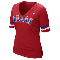 Texas Rangers Women's Half Sleeve Fan T-Shirt by Nike