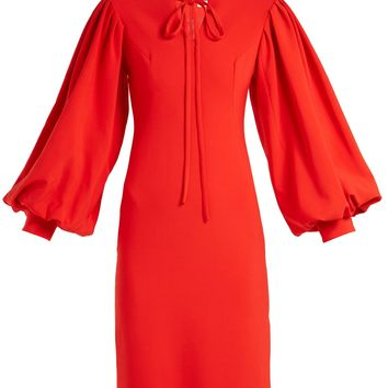 Maxine blouson-sleeve crepe dress | Osman | MATCHESFASHION.COM US