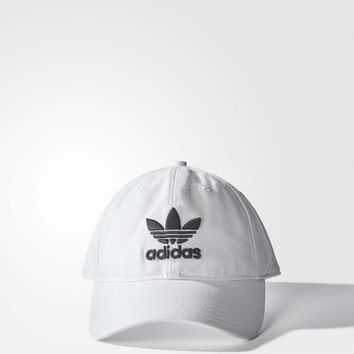 adidas Originals Trefoil Classic White Black Cap Adjustable Strap Hat BR9720