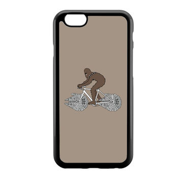 Chewbacca Biking Star Wars Ilustration iPhone 6 Case