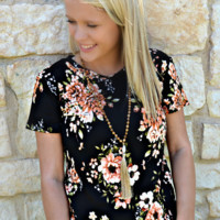 Midnight Bloom Top