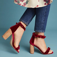 Jeffrey Campbell Velvet Heeled Sandals