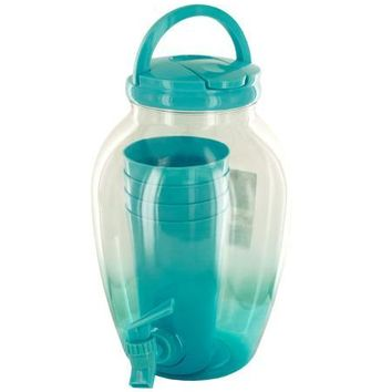 1.2 Gallon Beverage Dispenser Set with Cups (Available in a pack of 1)