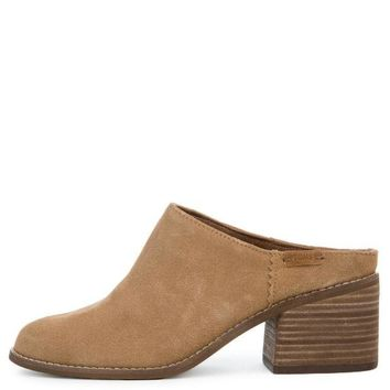 ONETOW Toms Leila Toffee Suede Women's Mule