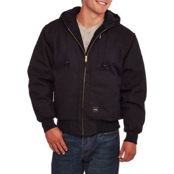 Walls Men's Insulated Duck Hooded Jacket, Black, Medium 38\40