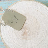 Canning Jar Necklace / Hand Stamped Jewelry / Custom Jar Necklace / Metal Jar Necklace / Canning Jar Gifts / Metal Stamp Necklace