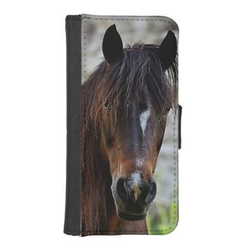 Beautiful Brown Horse Wallet Case