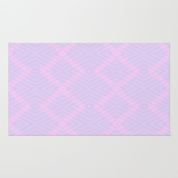 Pink and Magenta Geometry Rug by Lena Photo Art