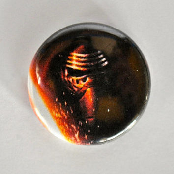 Kylo Ren Pin Magnet Star Wars Logo Title Button Pinback Badge 1 inch Starwars Dark Side Force Bad Guy Ben Solo The Force Awakens New Movie