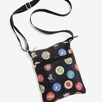 Harry Potter Badges & Icons Passport Crossbody Bag