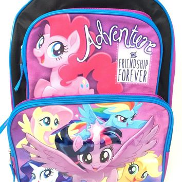 "New Grils Hasbro My Little Pony Adventure Friendship Forever 16"" Cargo Backpack"
