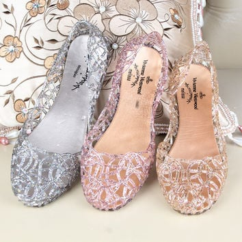 e0ec86f863dbd2 2017 Summer Slippers New Flip Flops Women Sandals Sparkling Crystal Jelly  Shoes
