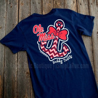 OLE MISS BOWTIE ANCHOR TEE