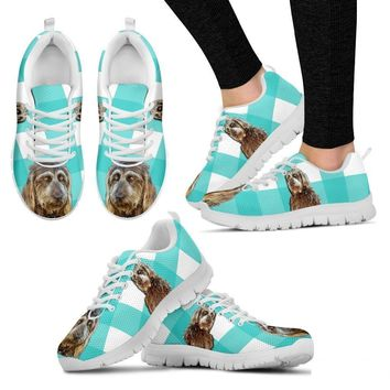 Brown Labradoodle Print Running Shoes For Women(White)- Free Shipping