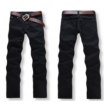 fashion mens boyfriend stylish straight slim fit jeans men black,Hot Sale Denim Cotton Men Jeans,dmyB33055