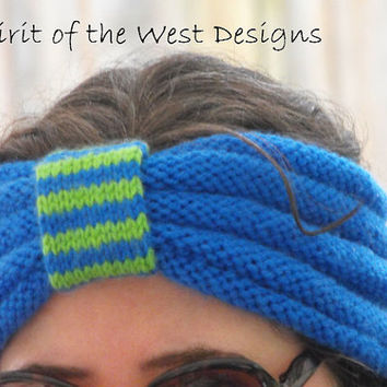 Passin Time Headband - Knitting Pattern, headwrap, earwarmer, warmer, teen, adult, stranded, womans accessories ear-muff wrap turban, spring