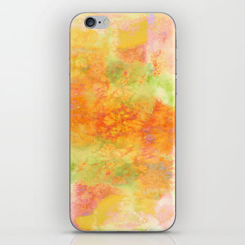 PASTEL IMAGININGS 3 Colorful Pretty Spring Summer Orange Yellow Peach Abstract Watercolor Painting iPhone & iPod Skin by EbiEmporium