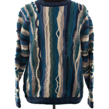 Men's Coogi Blue Wool Sweater