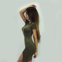 Summer Casual Split Hot Sale Women's Fashion One Piece Dress [8773445709]