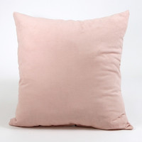 "Pink - Soft UltraSuede-20x20"" Square Decorative Pillow Inserts-Made in USA"