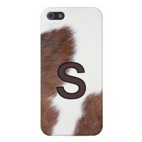 Letter S Brand Cowhide Livestock Iphone 5 Case from Zazzle.com