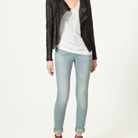 LEATHER JACKET - Collection - Blazers - Collection - Woman - ZARA Norway