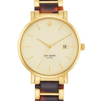 Kate Spade New York Ladies Gramercy Grand Gold-Tone and Tortoise Watch