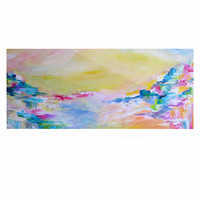 "Ebi Emporium ""Something About the Sea"" Yellow Multicolor Luxe Rectangle Panel"