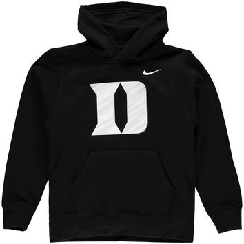 Duke Blue Devils Nike Youth KO Performance Pullover Hoodie - Black