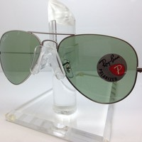 New Ray Ban Sunglasses RB 3025 019/O5 MATTESILVER/GREEN POLARIZED rb3025 rayban