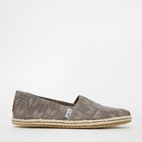 TOMS Ash Canvas Espadrille Slip On Shoes