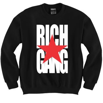Rich GANG Unisex Crewneck Funny and Music