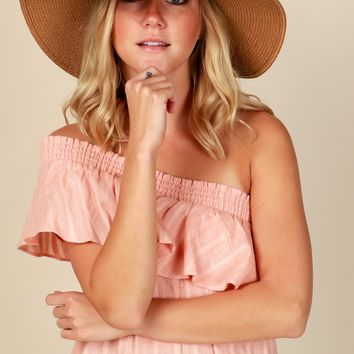 Spring Straw Hat Tan